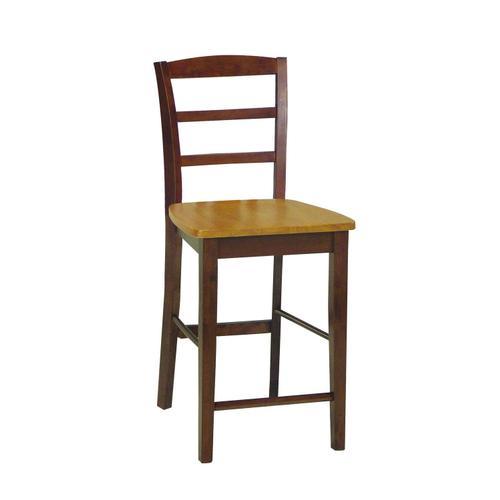 John Thomas Furniture - Madrid Stool in Cinnamon & Espresso
