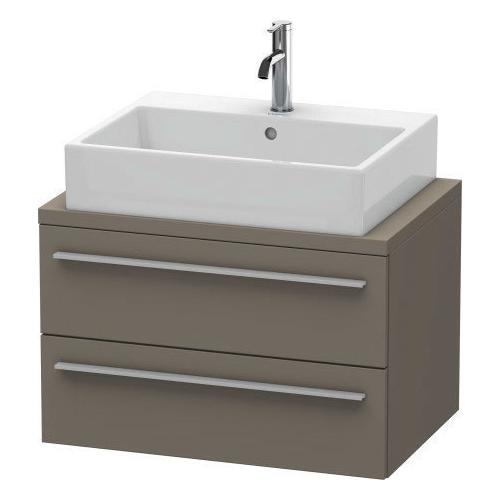 Duravit - Vanity Unit For Console Compact, Flannel Gray Satin Matte (lacquer)