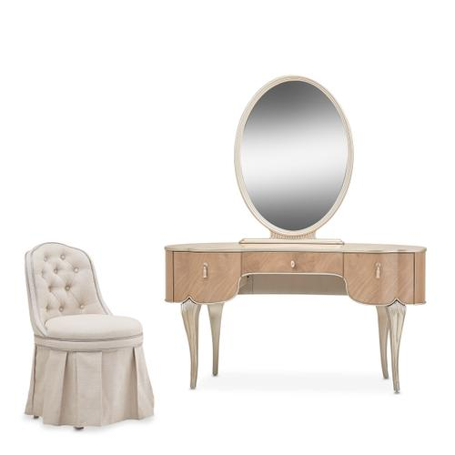 Vanity/desk W/mirror & Chair 3 PC
