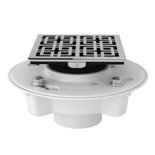 See Details - PVC 2 Inch X 3 Inch Drain Kit with Weave Decorative Cover - Polished Chrome