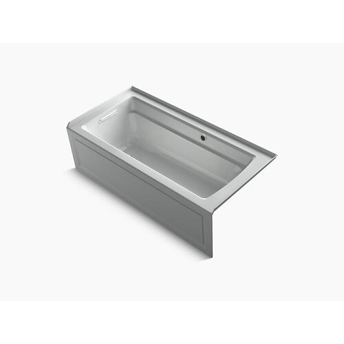"Ice Grey 66"" X 32"" Alcove Bath With Bask Heated Surface, Integral Apron, Integral Flange, and Left-hand Drain"