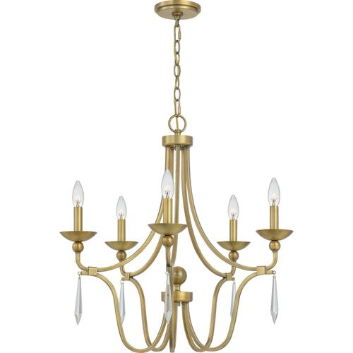 Quoizel - Joules Chandelier in Aged Brass