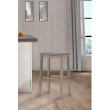 Fiddler Backless Non-swivel Bar Stool - Aged Gray