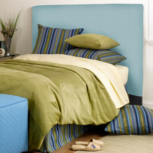 FQ Slipcovered Headboard Sterling Breeze (Base and Cover Included)
