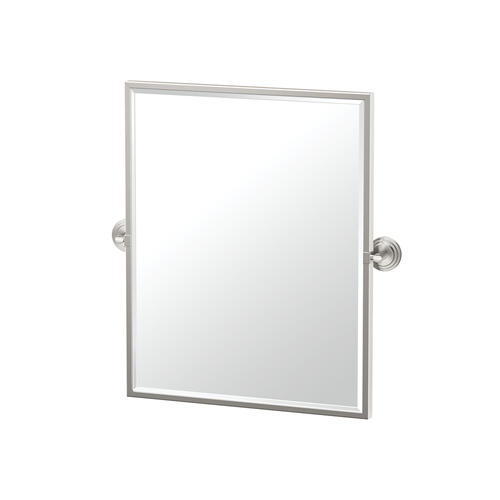 Marina Framed Rectangle Mirror in Satin Nickel