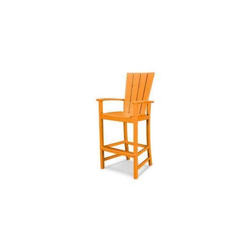 Polywood Furnishings - Quattro Adirondack Bar Chair in Tangerine