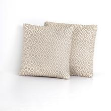 Azizi Woven Pillow-beige-set of 2-20""