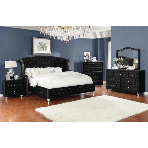 Deanna Contemporary Queen King Bed