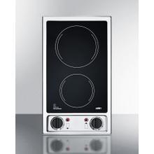 """See Details - 12"""" Wide 115v 2-burner Radiant Cooktop"""