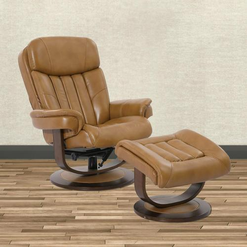 PRINCE - BUTTERSCOTCH Manual Reclining Swivel Chair and Ottoman