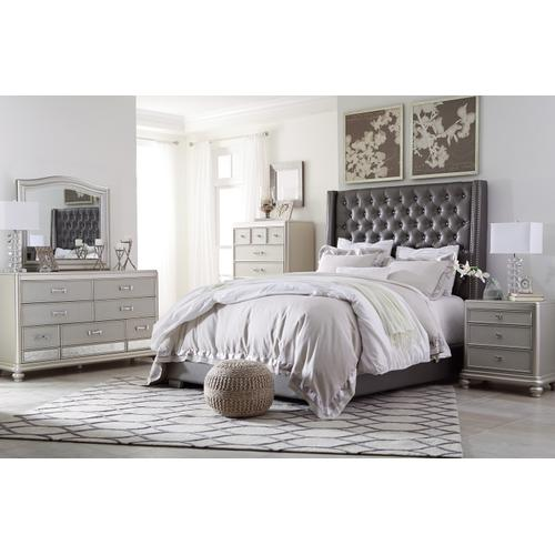 Coralayne - Silver 2 Piece Uph Bed (King)
