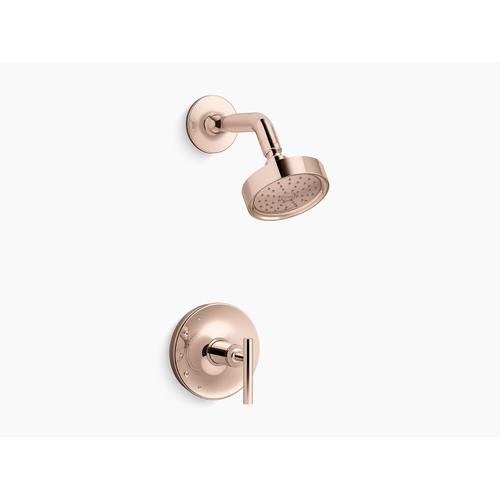 Kohler - Vibrant Rose Gold Rite-temp Shower Trim With Lever Handle and 1.75 Gpm Showerhead