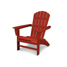Crimson Red Nautical Adirondack Chair