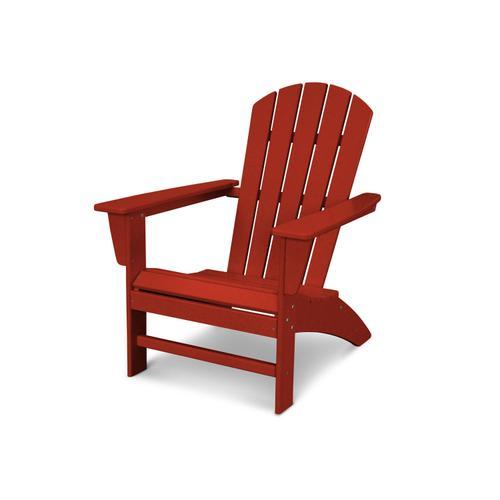 Crimson Red Nautical Adirondack Chair