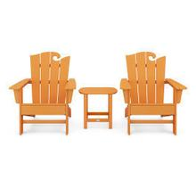View Product - Wave 3-Piece Adirondack Set with The Ocean Chair in Vintage Tangerine