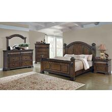 Satterfield Traditional Warm Bourbon Eastern King Bed