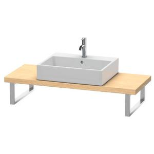 Console For Above-counter Basin And Vanity Basin Compact, Brushed Oak (real Wood Veneer)