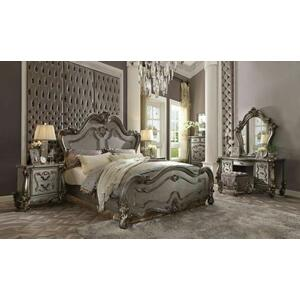 ACME Versailles Queen Bed - 26860Q - Antique Platinum
