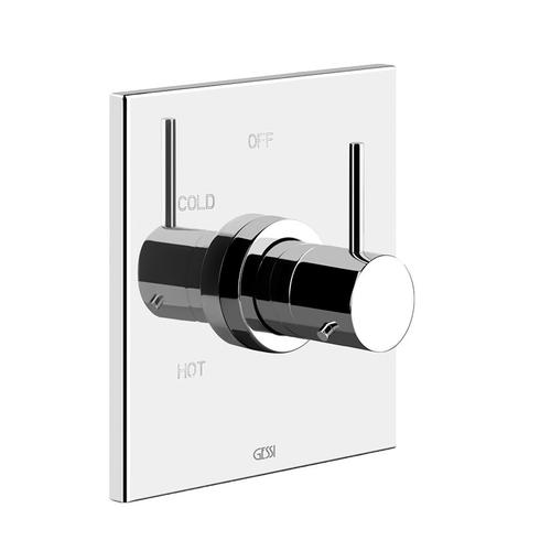"""Gessi - TRIM PARTS ONLY External parts for single exit pressure balance Single backplate 1/2"""" connections Requires in-wall rough valv e 09272 ADA compliant"""
