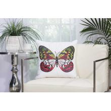 "Outdoor Pillows L2792 White 18"" X 18"" Throw Pillow"