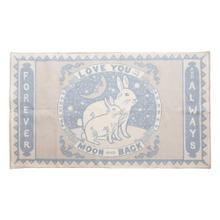 """Product Image - 5' x 3' Cotton Rug, White & Blue """"Love You To The Moon And Back Forever and Always"""""""