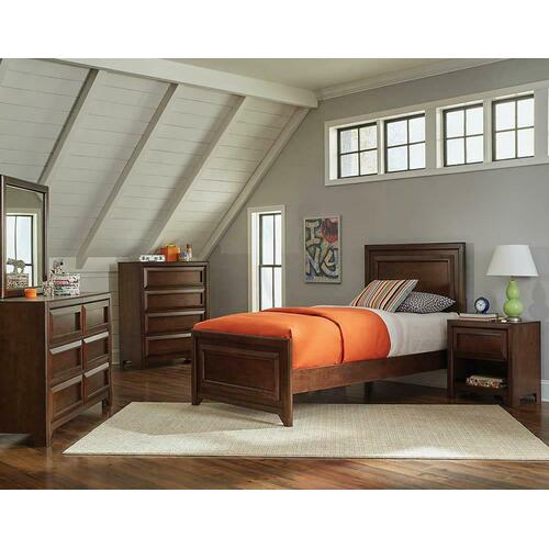 Greenough Transitional Maple Oak Twin Bed