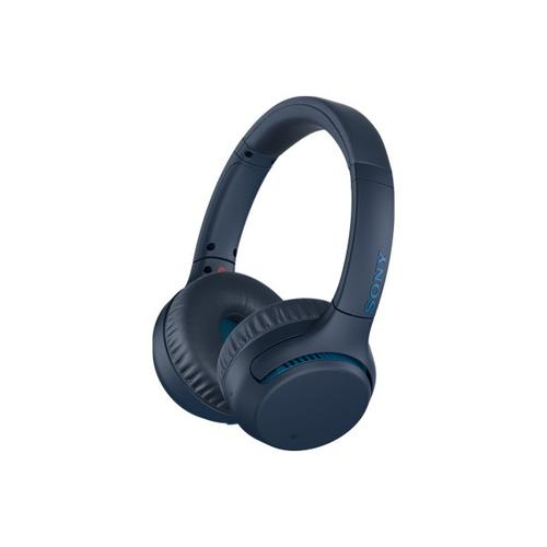 Sony - Wireless On-ear EXTRA BASS™ Headphones with Microphone - Blue