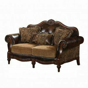ACME Dreena Loveseat w/3 Pillows - 05496 - PU & Chenille