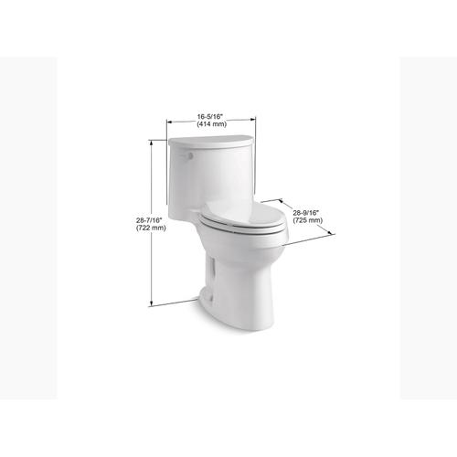 Ice Grey One-piece Elongated 1.28 Gpf Chair-height Toilet With Quiet-close Seat