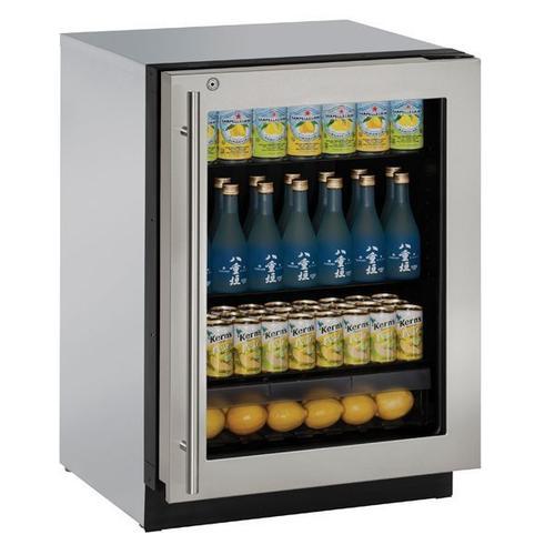 "24"" Refrigerator With Stainless Frame Finish (115 V/60 Hz Volts /60 Hz Hz)"
