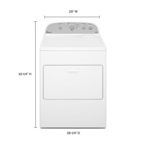 Gallery - 7.0 cu.ft Top Load Electric Dryer with Wrinkle Shield™ Plus