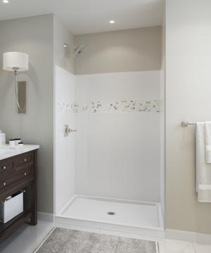 "White 48'' x 74"" x 34'' Shower Wall Set Product Image"