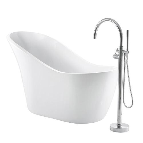 """Product Image - McGuire 70"""" Acrylic Slipper Tub"""