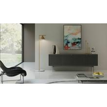 See Details - Align 7479 Media + Storage Console in Fog Grey Console Base