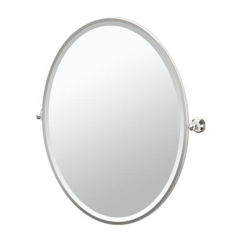 Laurel Ave. Framed Oval Mirror in Satin Nickel