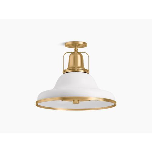 Kohler - Black, Brass Trim Semi-flush Light