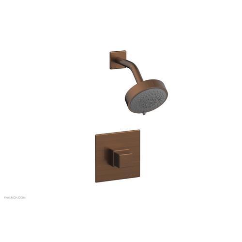 MIX Pressure Balance Shower Set - Cube Handle 290-24 - Antique Copper
