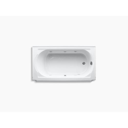 "Dune 60"" X 34"" Alcove Whirlpool With Right-hand Drain and Heater Without Jet Trim"