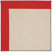Creative Concepts-White Wicker Canvas Jockey Red Machine Tufted Rugs