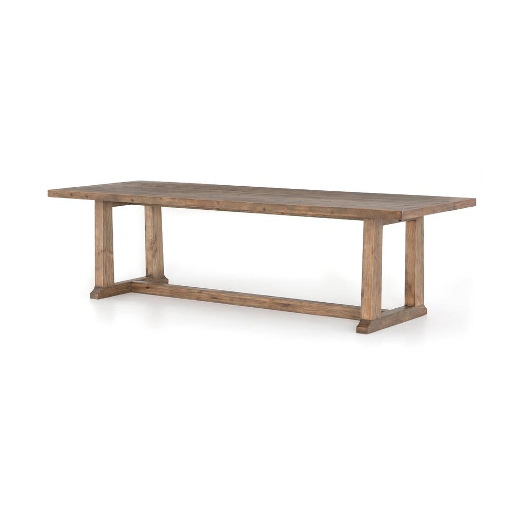 """Otto Dining Table-110""""-waxed Bleached Pn"""