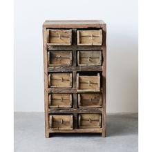 """See Details - 15""""L x 13""""W x 28""""H Found Wood Brick Mould Cabinet w/ 10 Drawers"""