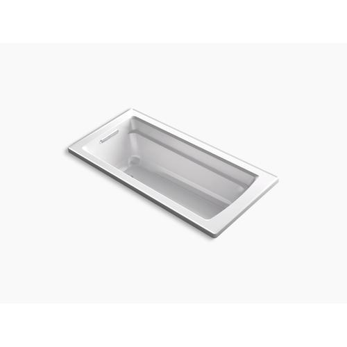 "White 66"" X 32"" Drop-in Bath With Reversible Drain"