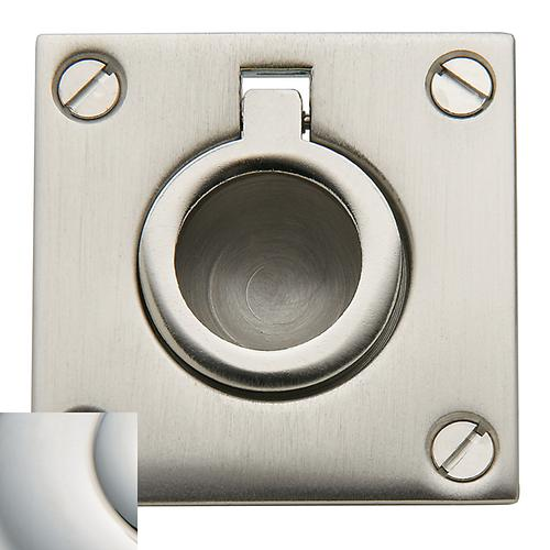Polished Nickel with Lifetime Finish Flush Ring Pull