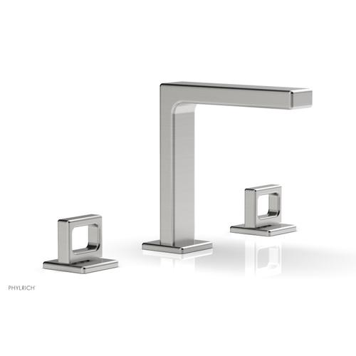 """MIX Widespread Faucet - Ring Handles 6-3/4"""" Height 290-03 - Satin Chrome"""