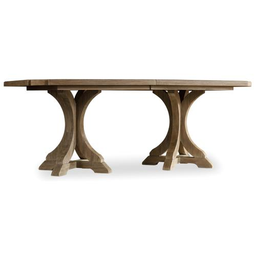Hooker Furniture - Corsica Rectangle Pedestal Dining Table w/2-20in Leaves