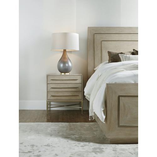 Bedroom Cascade Three-Drawer Nightstand