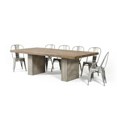 VIG Furniture - Modrest Renzo Modern Oak & Concrete Dining Table
