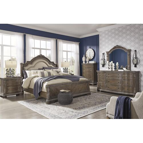 Charmond - Brown 3 Piece Bed (King)
