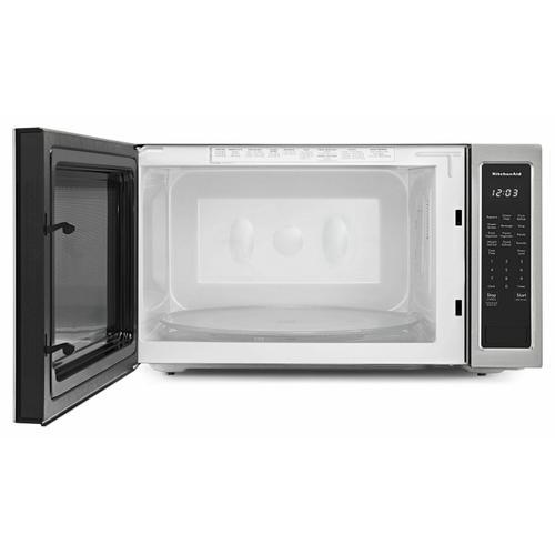 """KitchenAid - 24"""" Countertop Microwave Oven - 1200 Watt - Stainless Steel"""
