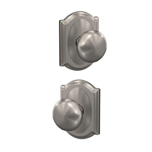 Custom Plymouth Non-Turning Knob with Camelot Trim - Satin Nickel